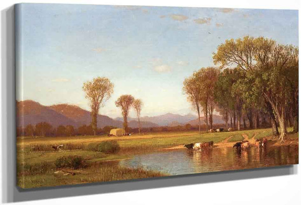 Summer Afternoon In The Meadows By Samuel Colman