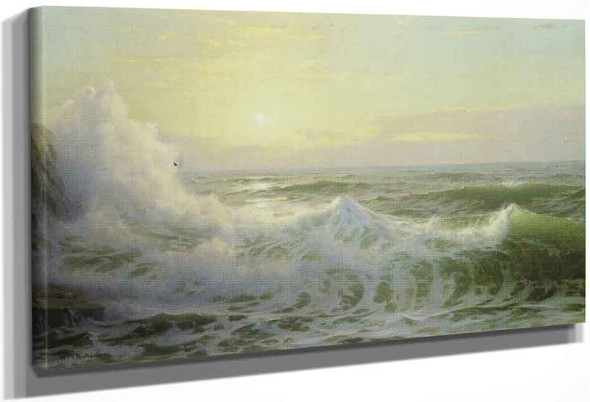 Sunlit Waves By William Trost Richards By William Trost Richards