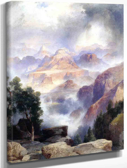 A Showery Day, Grand Canyon By Thomas Moran