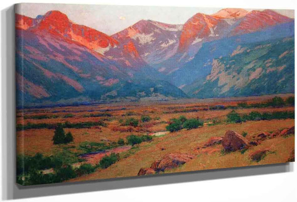 Sunrise On The Mountains At The Head Of Moraine Park, Near Estes Park By Charles Partridge Adams By Charles Partridge Adams