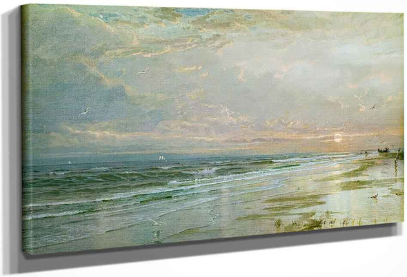 Sunrise On The New Jersey Shore By William Trost Richards By William Trost Richards
