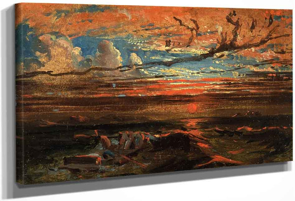 Sunset At Sea After A Storm By Francis Danby