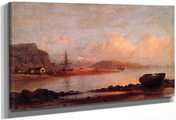 Sunset Of The Labrador Coast By William Bradford By William Bradford
