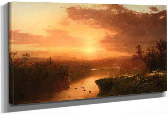 Sunset Over Lake George By John Frederick Kensett By John Frederick Kensett