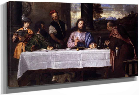 Supper At Emmaus By Titian