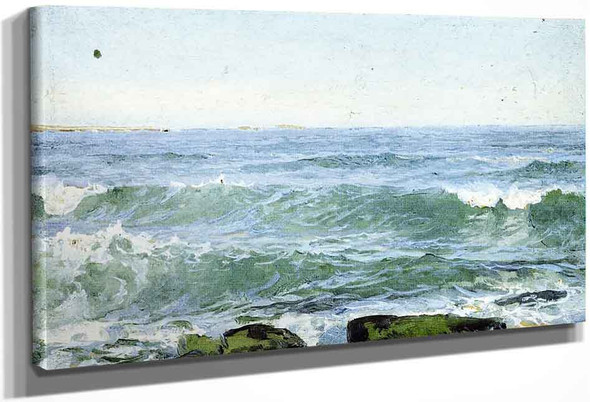 Surf At Shore By William Trost Richards By William Trost Richards