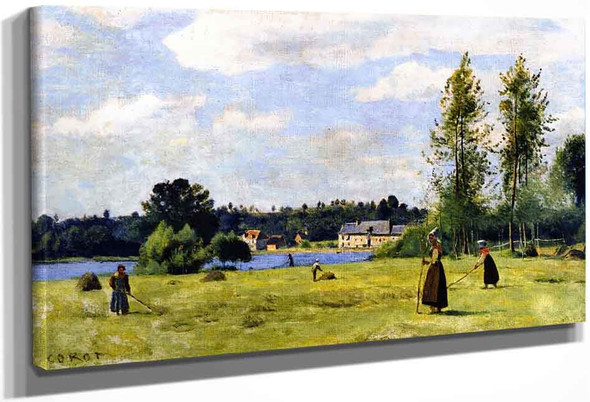 Tedders At Ville Davray By Jean Baptiste Camille Corot
