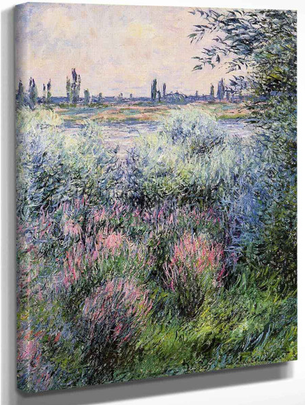 A Spot On The Banks Of The Seine By Claude Oscar Monet