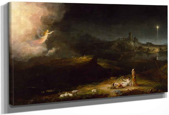 The Angel Appearing To The Shepherds By Thomas Cole By Thomas Cole