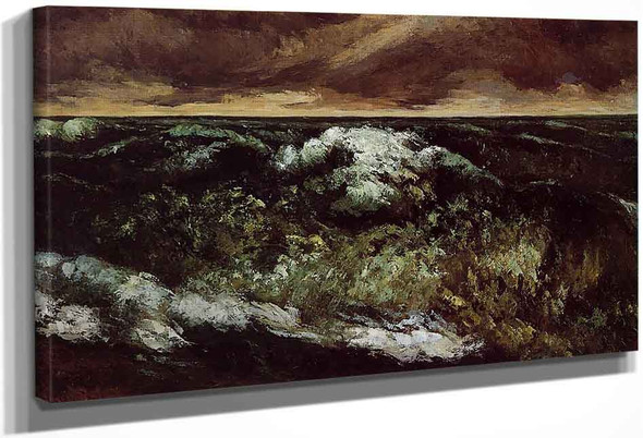 The Angry Sea By Gustave Courbet