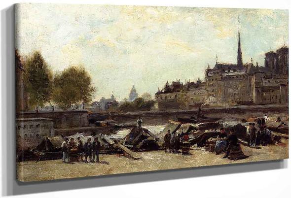 The Apple Market, Quai De Gesvres And Quai De L'hotel De Ville, Near The Pont D'arcole By Stanislas Lepine