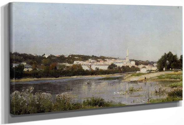 The Banks Of The Saine At St. Cloud By Stanislas Lepine
