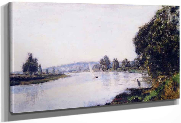 The Banks Of The Seine Downstream From Paris By Stanislas Lepine