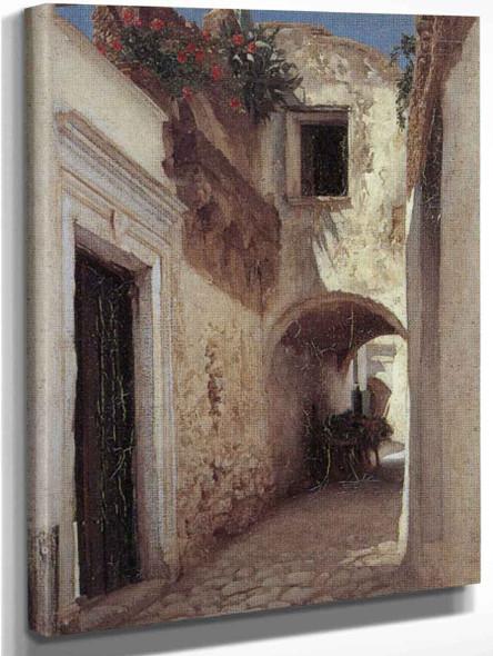 A Street Scene, Capri By Sir Frederic Lord Leighton