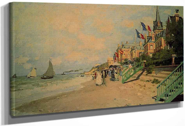 The Beach At Trouville1 By Claude Oscar Monet