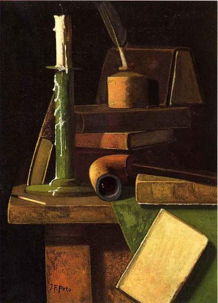 A Student's Desk By John Frederick Peto By John Frederick Peto