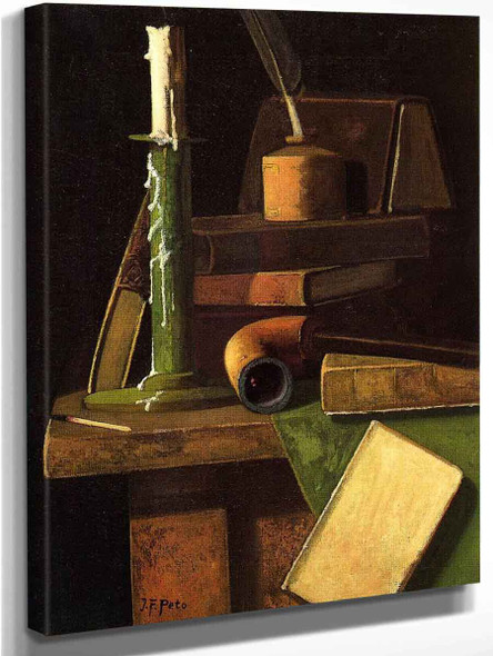 A Student's Desk By John Frederick Peto Art Reproduction