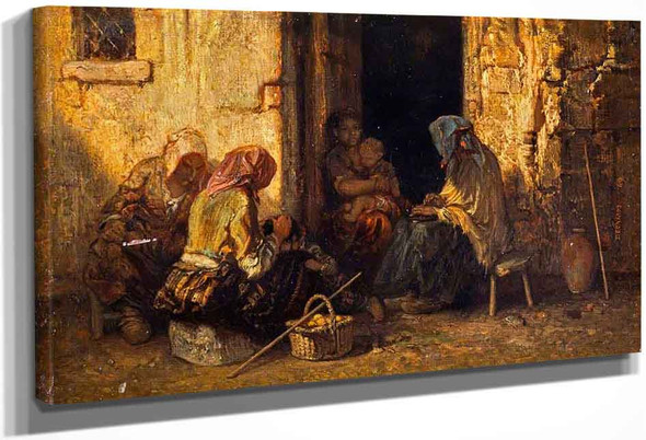 The Beggars By Alexandre Gabriel Decamps