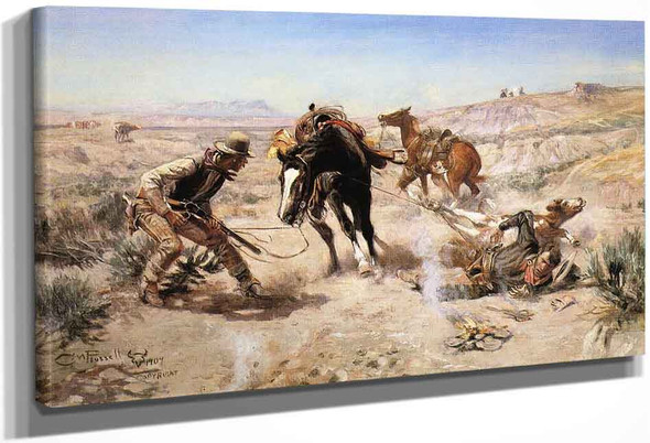 The Cinch Ring By Charles Marion Russell