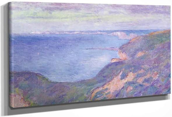 The Cliff Near Dieppe By Claude Oscar Monet