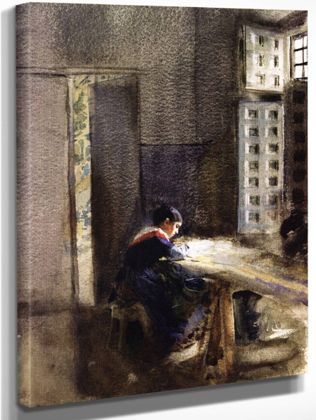 A Tapestry Manufacturer In Madrid By Anders Zorn