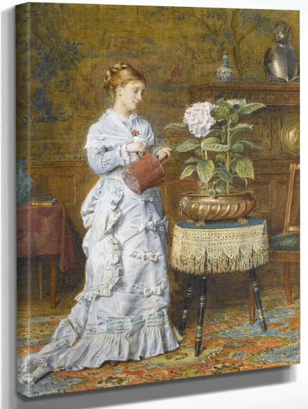 A Tender Plant By George Goodwin Kilburne By George Goodwin Kilburne