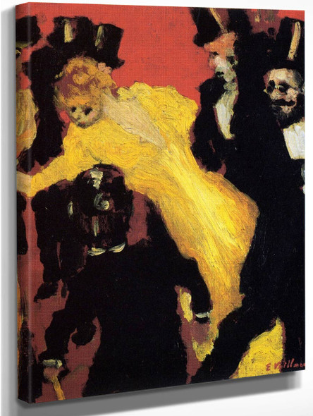 A Theater Corridor With Toulouse Lautrec By Edouard Vuillard