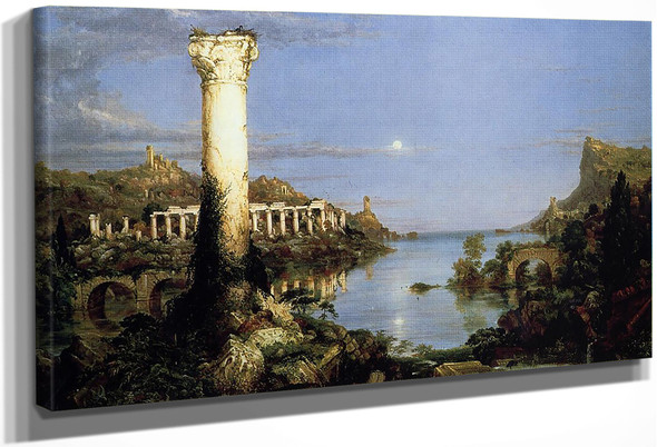 The Course Of Empire Desolation By Thomas Cole By Thomas Cole