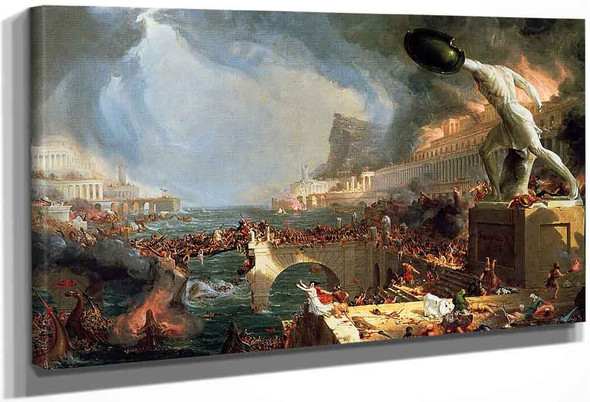 The Course Of Empire Destruction By Thomas Cole By Thomas Cole