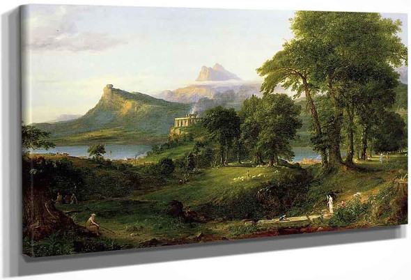 The Course Of Empire The Arcadian Or Pastoral State By Thomas Cole By Thomas Cole