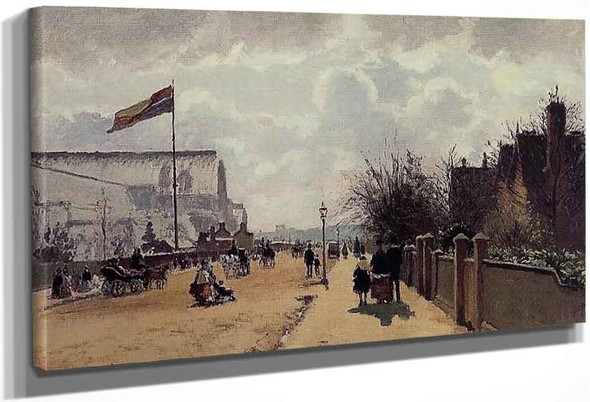 The Crystal Palace, London By Camille Pissarro