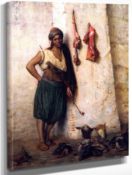 A Turkish Butcher Boy In Jerusalem By Jean Leon Gerome