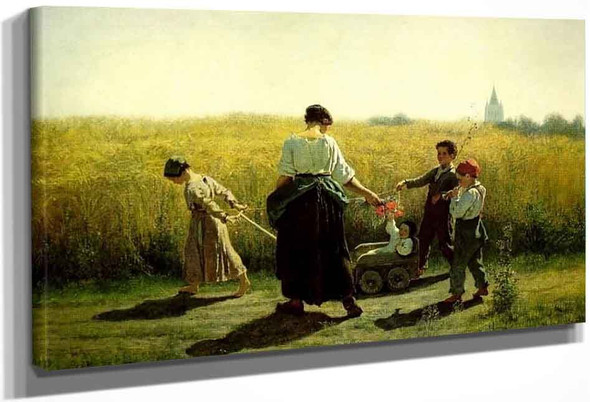 The Departure For The Fields By Jules Adolphe Breton