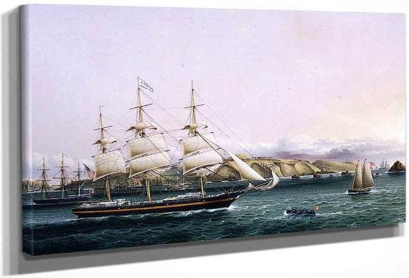 The Edward Obrien Entering Port By James E. Buttersworth