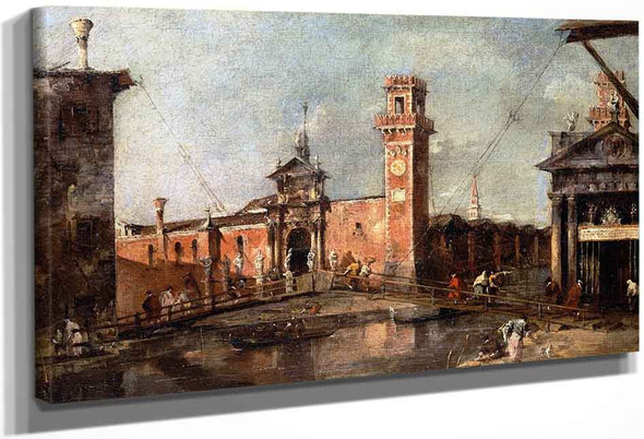 The Entrance To The Arsenal In Venice By Francesco Guardi