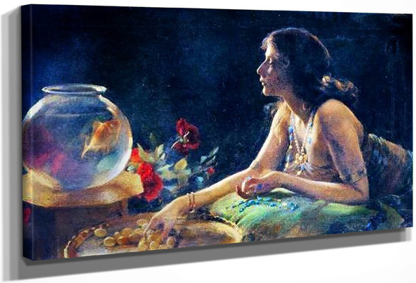 The Goldfish1 By Charles Courtney Curran By Charles Courtney Curran