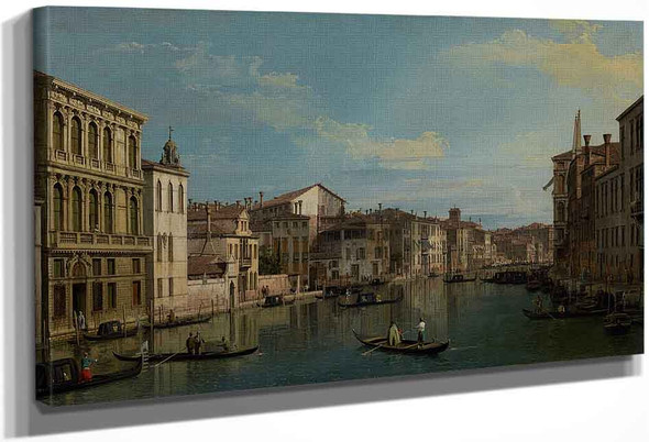 The Grand Canal From Palazzo Flangini To Campo San Marcuola By Canaletto By Canaletto