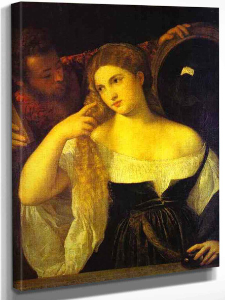 A Woman At Her Toilet By Titian