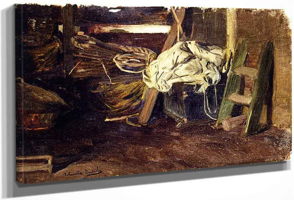 The Hold Of A Fishing Vessel By Joaquin Sorolla Y Bastida