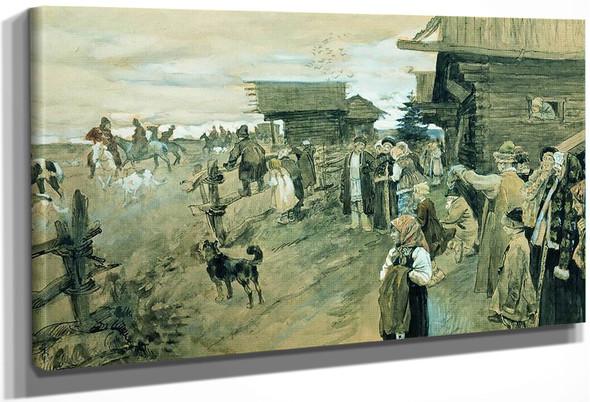 The Hunt By Sergei Arsenevich Vinogradov Russian 1869 1938