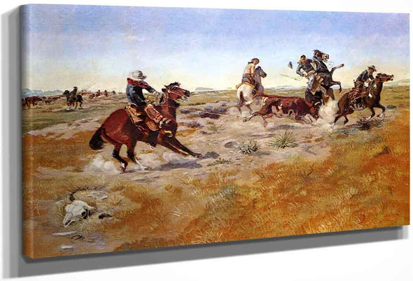 The Judith Basin Roundup By Charles Marion Russell