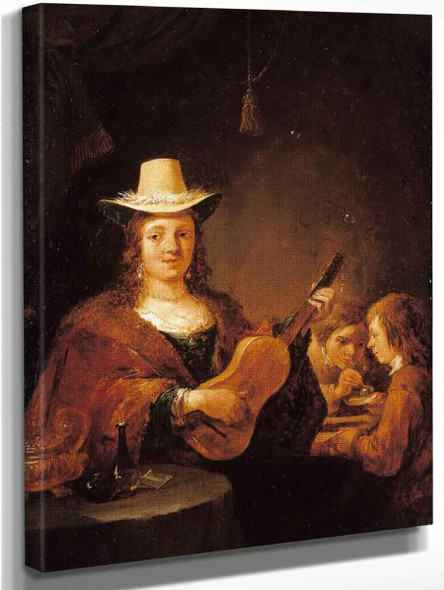 A Woman Playing The Guitar By David Teniers The Younger