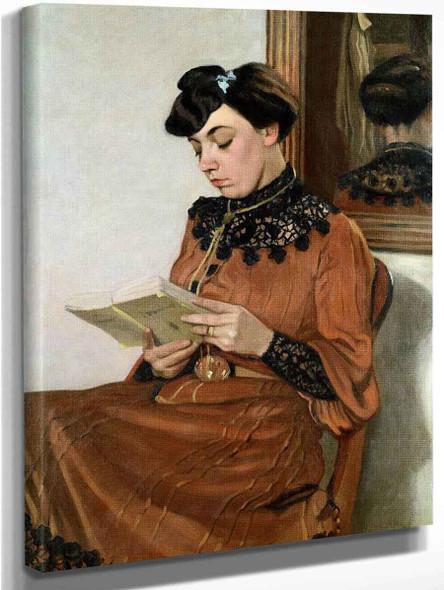 A Woman Reading By Felix Vallotton