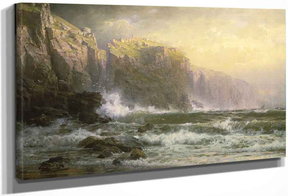 The League Long Breakers Thundering On The Reef By William Trost Richards By William Trost Richards