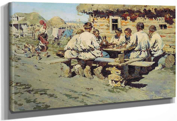 The Lunch Of Workers By Sergei Arsenevich Vinogradov Russian 1869 1938
