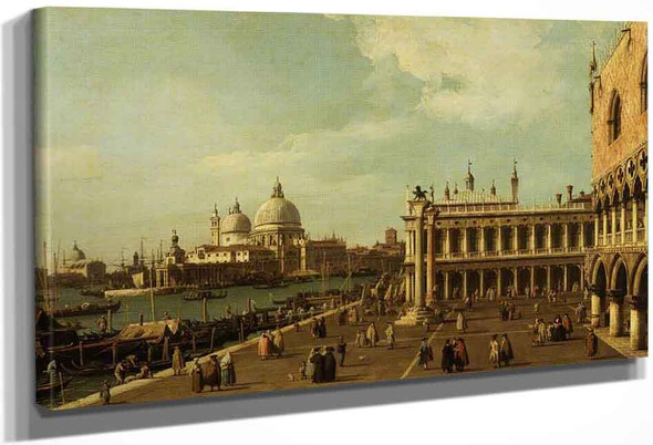 The Mole With Santa Maria Della Salute By Canaletto By Canaletto