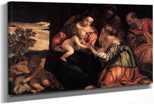 The Mystic Marriage Of St Catherine By Paolo Veronese