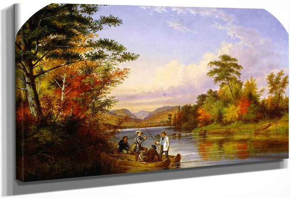 The Narrows On Lake St. Charles By Cornelius Krieghoff By Cornelius Krieghoff