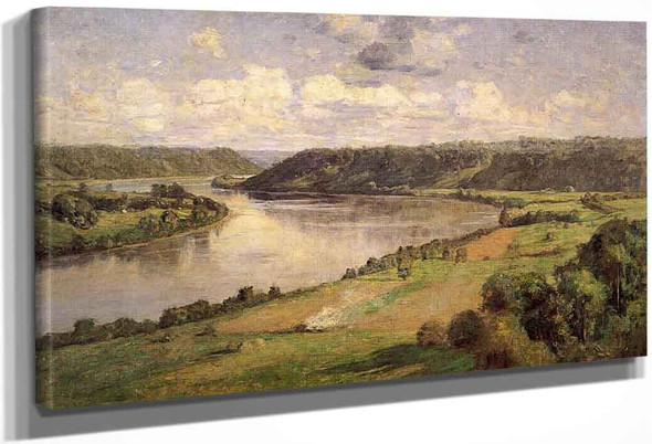 The Ohio River From The College Campus, Hanover By Theodore Clement Steele