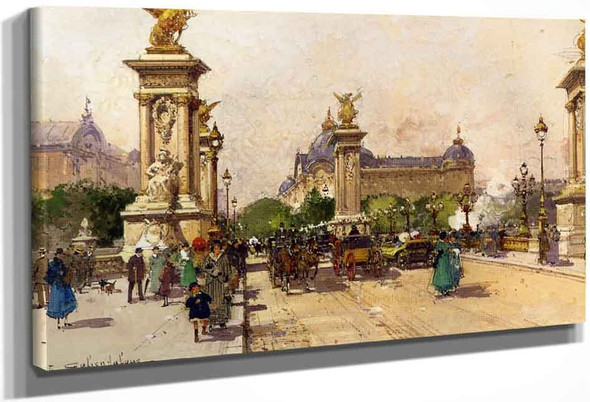 The Pont Alexandre Iii And The Grand Palais By Eugene Galien Laloue